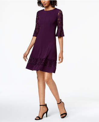 Jessica Howard Lace-Sleeve A-Line Dress, Regular & Petite