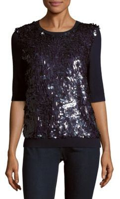Sequined Virgin Wool & Silk-Blend Sweater
