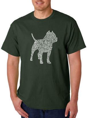 LOS ANGELES POP ART Los Angeles Pop Art Pitbull Logo Graphic T-Shirt-Big and Tall