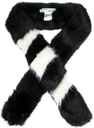 Off-White faux fur scarf