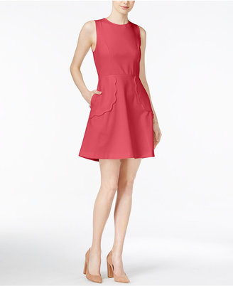 Maison Jules Scalloped Fit & Flare Dress, Only at Macy's $69.50 thestylecure.com