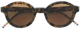 Thom Browne Eyewear Round Tokyo Tortoise Sunglasses