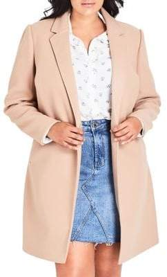 City Chic Plus Well Tailored Relaxed-Fit Coat
