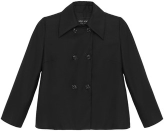 Lindsay Nicholas New York Double-Breasted Jacket In Black
