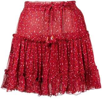 Poupette St Barth ruffled mini skirt