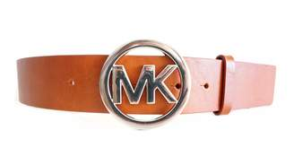 Michael Kors MICHAEL Women's Leather Belt,Luggage,Small