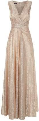 Talbot Runhof Sleeveless Ruched Waist Gown