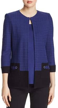 Misook Textured-Knit Jacket