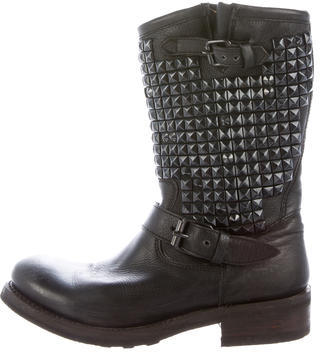 Ash Ash Leather Studded Boots