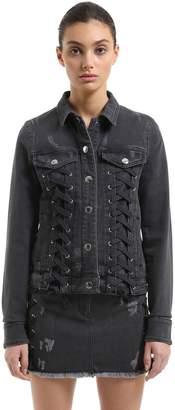 Versus Zayn X Denim Jacket W/ Laces