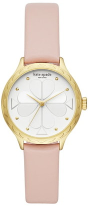 Kate Spade Rosebank Scallop Leather Strap Watch, 32mm