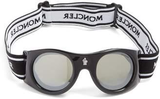 Moncler Round Frame Ski Goggles - Mens - Black