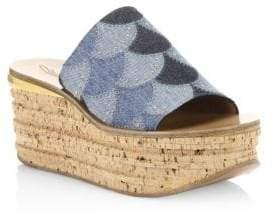 Chloé Camille Denim Platform Sandals