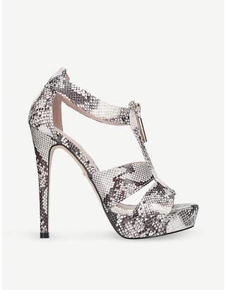 Carvela Girly snakeskin-embossed heeled sandals