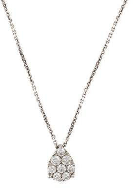 14K Diamond Cluster Pendant Necklace