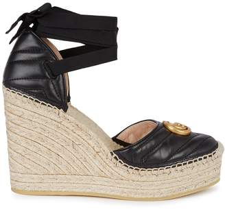 Gucci Palmira 155 Espadrille Wedge Sandals
