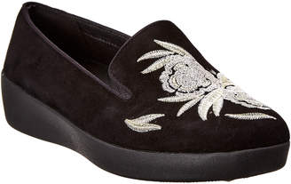 FitFlop Audrey Baroque Suede Smoking Slipper