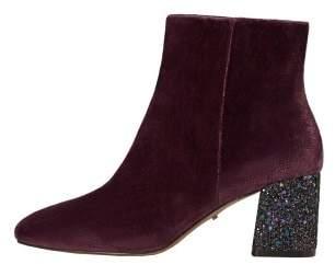 Violeta BY MANGO Glitter heel velvet ankle boot