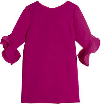 Milly Minis Angle Fernanda Ruffle-Sleeve Dress, Size 8-16