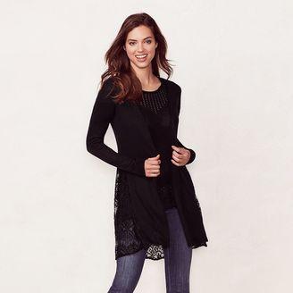 Women's LC Lauren Conrad Scallop Lace Cardigan $54 thestylecure.com