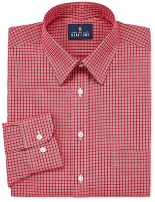STAFFORD Stafford Travel Stretch Performance Super Shirt Long Sleeve Broadcloth Checked Dress Shirt