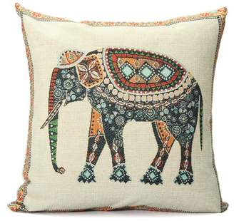 """Generic Grtsunsea Elephant Pillow Cushion Cover Indian Knitted Cotton Linen Pillow Case Pillowslip Pillow Protector Cover 16.5""""x16.5"""""""
