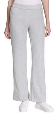 Calvin Klein Wide-Leg Heathered Pants