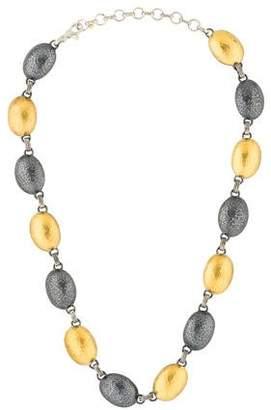 Gurhan Oval Domed Lentil Link Necklace
