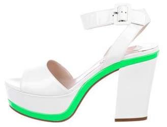 Miu Miu Platform Ankle-Strap Sandals