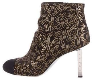 Chanel 2016 CC Cap-Toe Ankle Boots