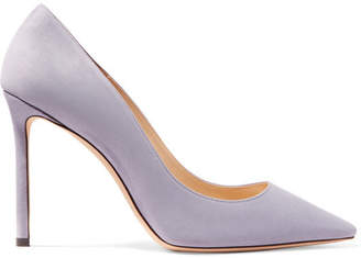 Jimmy Choo Romy 100 Suede Pumps - Lilac