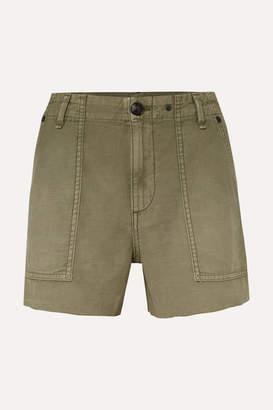 Rag & Bone Frayed Cotton Shorts - Army green