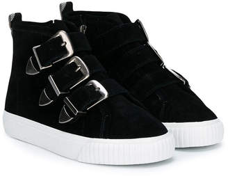 Burberry suede buckled sneaker