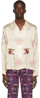 BEIGE Bode Tiger Ruching Shirt