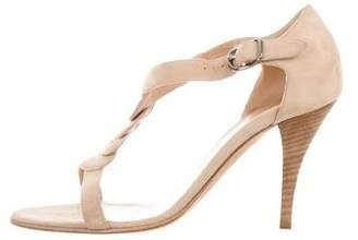 Hermes Suede T-Strap Sandals