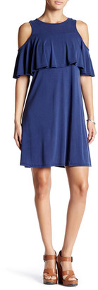 Bobeau Tiered Ruffle Cold Shoulder Dress $68 thestylecure.com