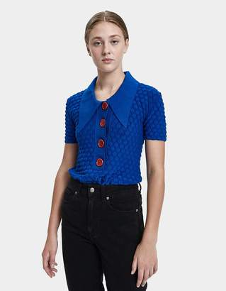Marni Bobble Knit Polo Shirt