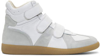 Maison Margiela White Triple Velcro Sneakers