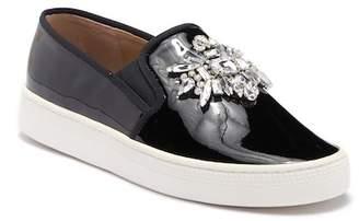 Badgley Mischka Barre Crystal Embellished Slip-On Sneaker
