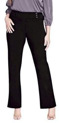 City Chic Plus Smart Straight-Cut Pants