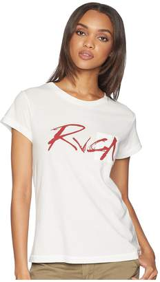 RVCA Inkwell Short Sleeve Shirt Women's Clothing