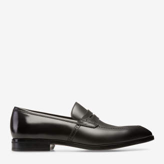 Bally Larso Black, Men's plain calf leather penny loafers in black