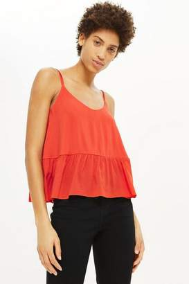 Topshop Relaxed Peplum Camisole Top