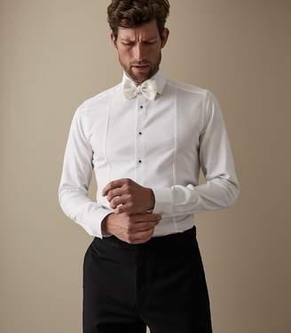 Reiss MARCEL BUTTON-DETAIL SLIM-FIT SHIRT White