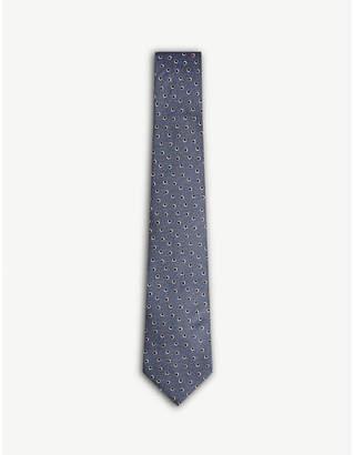 Lanvin Eye print silk tie