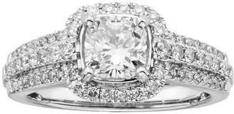 Kohl's 14k White Gold 1 1/2-ct. T.W. Cushion-Cut IGL Certified Diamond Frame Ring
