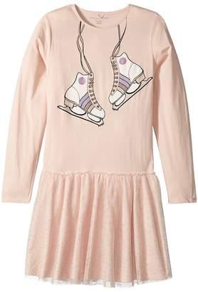 Stella McCartney Primrose Skate Printed Dress w/ Tulle Skirt Girl's Dress