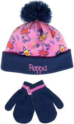 Peppa Pig Girls' Hat and Gloves Set Age 4 to 6 Years
