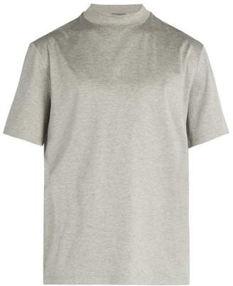 Lanvin Crew Neck Cotton T Shirt - Mens - Grey