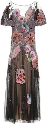Temperley London Petal embroidered sequinned gown